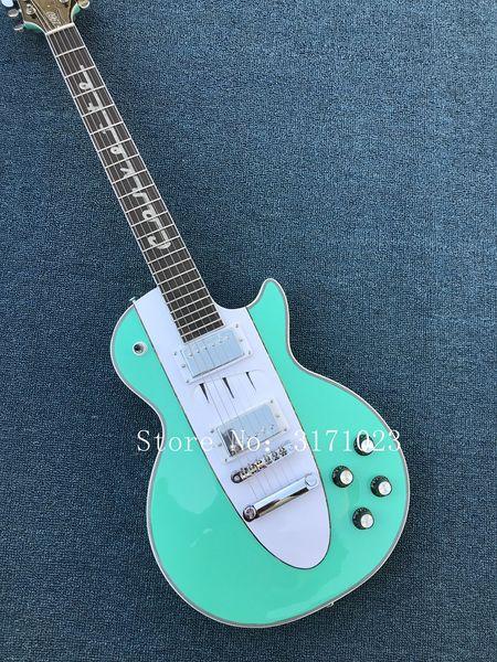 New Arrival Custom Shop 1960 Corvette Light blue electric guitar,symbol of Footsteps music fingerboard,OEM,Free shipping