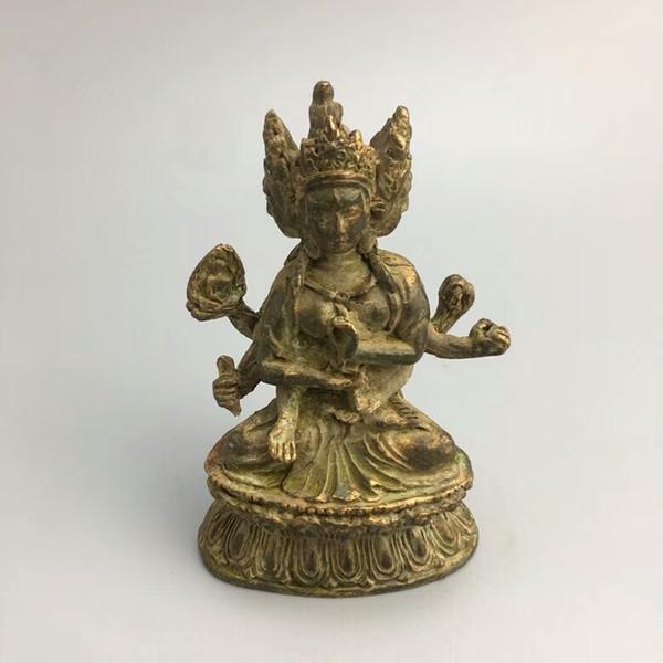 Estátua de Buda de cobre de coleção