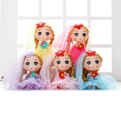 Hot selling Cute Mini Ddung ddgirl Dolls Phone Pendant Fashion Popular 12CM Gum Dolls Girl Toys good Christmas gift for girl Plush Toys