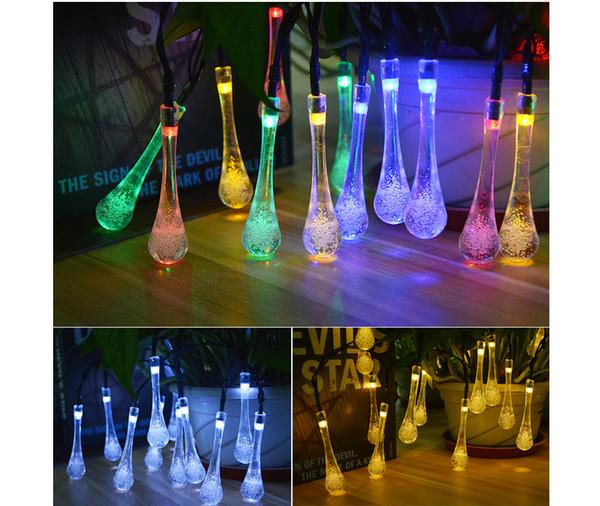 6M Solar Powered String Lights 30LED Fairy Bubble Ball String Light Outdoor for Christmas Festival Garden Decorative Lamps