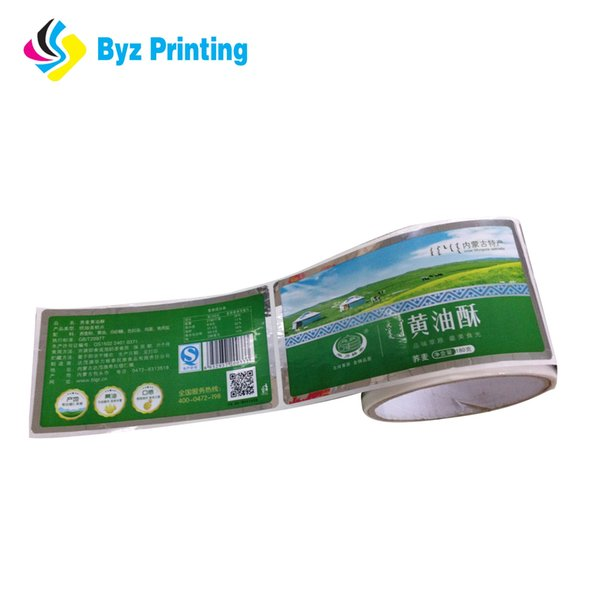 2019 factory price Custom round paper logo label sticker, colored seal sticker roll printing