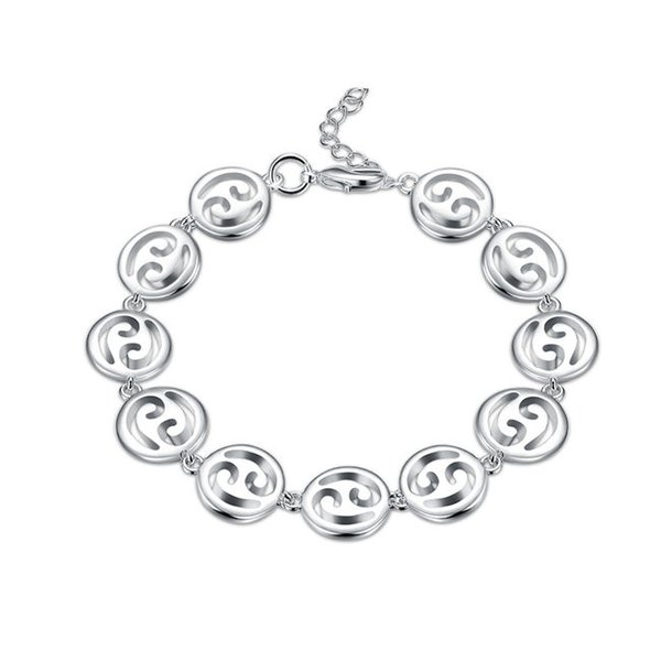 Top sale!The hand chain of the hand sterling silver plated bracelet SPB579;high quatity fashion men and women 925 silver Charm Bracelets