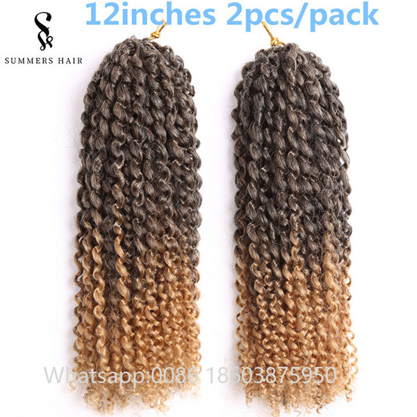 Malibob Crochet Hair Extensions 12inch 2pcs Per Pack Marley Braid Synthetic Braiding Hairstyle for African Women