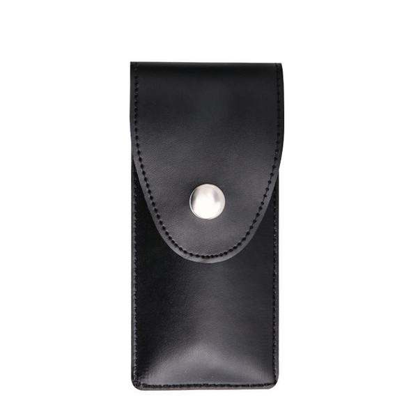 Luxury Leather Lock Pick Case Rectangle Black Stainless Handles Removing Key Set Portable Lockpick Locksmith Tools Locks Opener 15jt BB