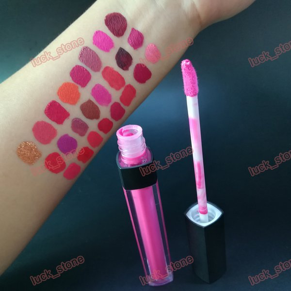 private label 24 color lip gloss matte with non cup stick liquid lip rouge long time keep individual box pack lipgloss without logo