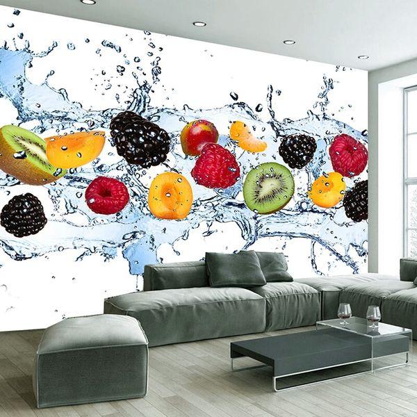 Grosshandel Benutzerdefinierte Wandmalerei Frisches Obst Fototapete Restaurant Wohnzimmer Kuche Hintergrund Wandbild Vliestapete Modern Von Watchsaler