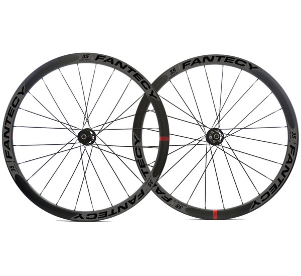 700C 38mm depth road bike disc brake carbon wheels 25mm width Clincher/tubular cyclocross carbon wheelset with Novatec hub