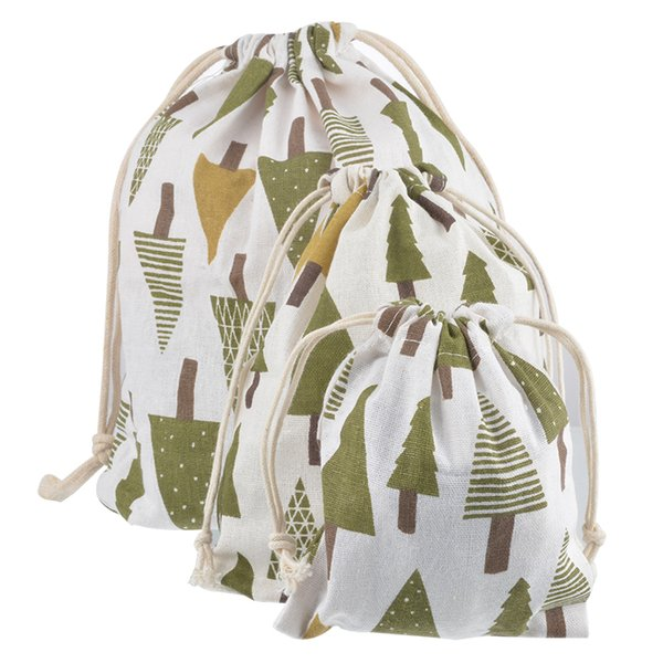 Urijk Multi Size Gift Bag Baby Toys Storage Bags Drawstring Storage Pouch Christmas Gift Packaging Holder Bags Travel Organizer