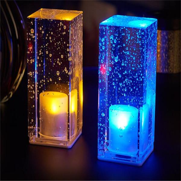 lampada da tavolo a led bar ricarica lampada da tavolo in cristallo luce notturna colorato romantico coffee shop KTV ristorante bar lampada