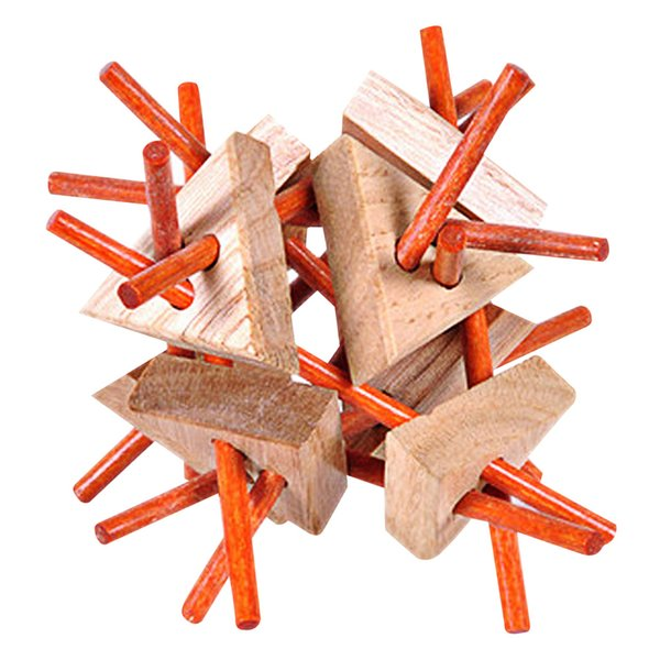top popular Luban Lock Traditional Toy 3D Wooden Puzzles Intellectual Baby Toy Wooden Educational 3D Puzzle Toy Gift For Kid 2021