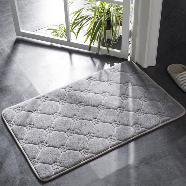 Honlaker Modern Minimalist Home Bath Mat Water-absorbing Non-slip Bathroom Doormat Dustproof and Easy To Clean Door Mat Bath Rug