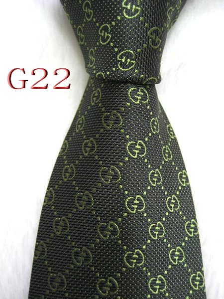 G22-088 Mens Classic Silk Designer Ties for Mens Brand Neckwear Business Skinny Grooms Necktie for Wedding Party Suit Shirt luxury gift