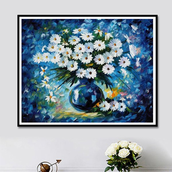 Lan New Pattern Diamonds Picture Small Daisy Fully-jewelled Cross Embroidery Paste A Living Room Decoration Painting