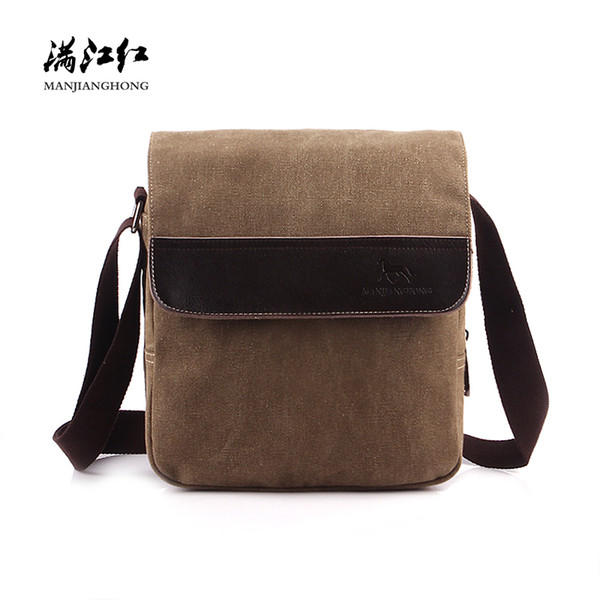 Vintage Retro Men Messenger Bags Canvas Fashion Crossbody Bags For Men Male Patchwork Leather Casual Shoulder Sling Bag 1093