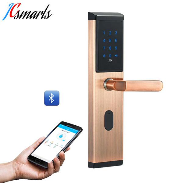 WiFi habilitado bluetooth sistema de cerradura de puerta delantera sin llave de entrada de acero inoxidable material de bloqueo con lector de tarjetas M1
