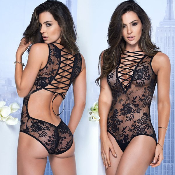 Sexy Lingerie Underwear Wholesale Hot Perspective Lace Bathrobes Erotic Underwear Hollow Out Porn Sexy Costumes For women Free shipping