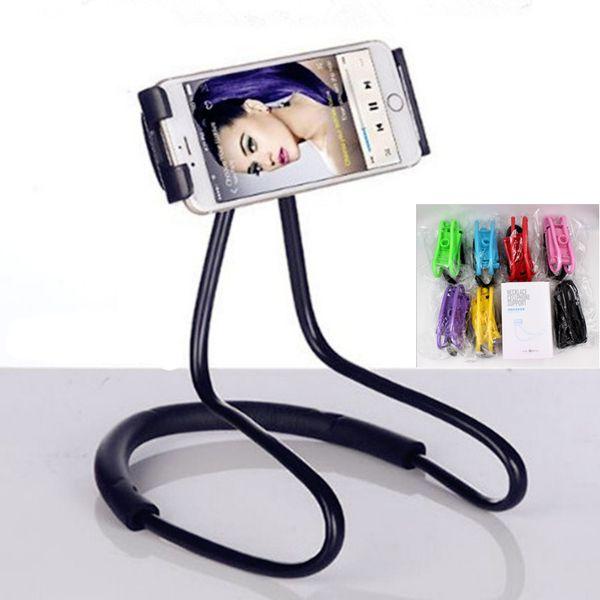 Necklace Cellphone Support Holder Mounts Selfie Stick Stand Holder Tablet for Mobile Pad Fashion Mix Color