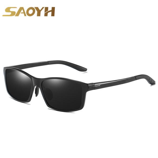 e7466b5c5e SAOYH Al-Mg Gafas de sol polarizadas para hombres Nuevo diseño  antirreflejos para conducir Gafas