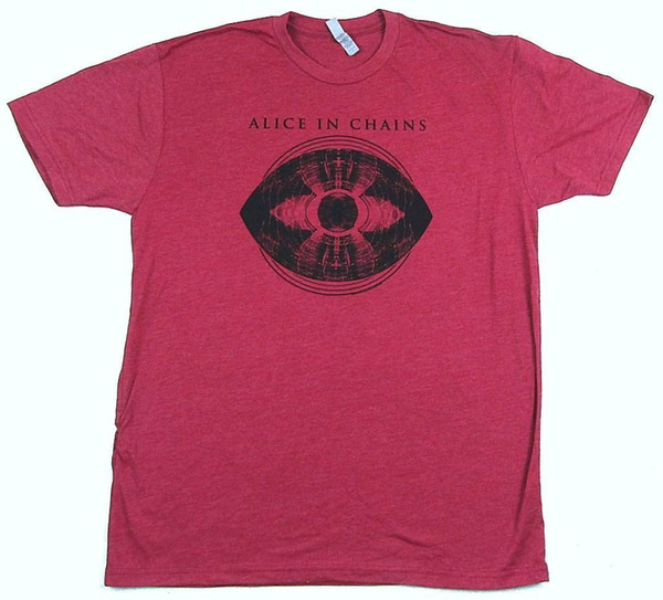 Alice In Chains Blinded Eye Heather Cardinal Red T Shirt New Official AIC Soft 2018 Latest Men T-Shirt Fashion