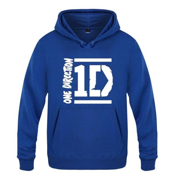 Mens Hoodies One Direction 1D Print Hoodie Men Hio Hop Fleece Long Sleeve Men's Sweatshirt Casual Skate Tracksuit Rock Pullover