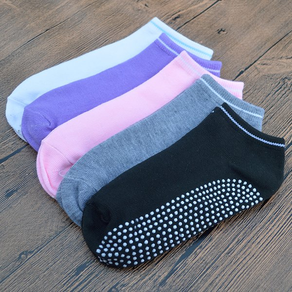 5 Pair/set Candy Color Home Indoor Floor Anti Slip Women Socks Polyester Cute Fashion Girls Short Ankle Socks with Gift Bag