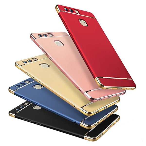 For HuaWei P10 Plus P9 Mate 9 Honor 5X PC 3 In 1 Phone Cases Armor Full Package Hard 6 Colors