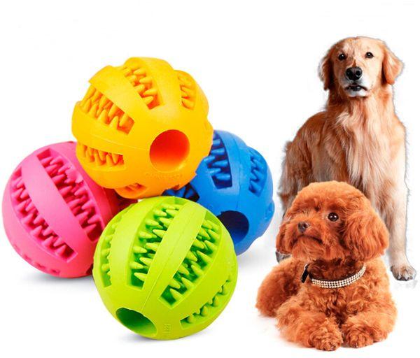 Chien balle à mâcher en caoutchouc dents nettoyage boules Pet chien chat chiot élasticité dents balle chien à mâcher jouets