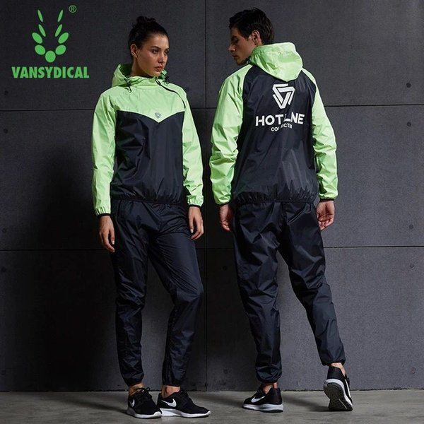 Wholesale- Vansydical Women Men Running Sets Tracksuit Fitness Hoodies+Pants 2PCS Yoga Sets Sportswear Training Gym Hot Sweat Sport Suit