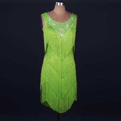 2016 vendita calda ballo latino costume spandex nappa pietre vestito da ballo latino per le donne concorrenza abiti 2XS-6XL