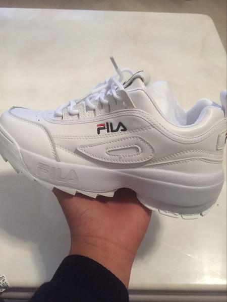 Großhandel New Disruptors 2 Sägezahn Weiß Schwarz Pink II FILAS Damen Herren Designer Sport Plateau Turnschuhe Laufschuh Chaussures Schuhe 36 44 Von