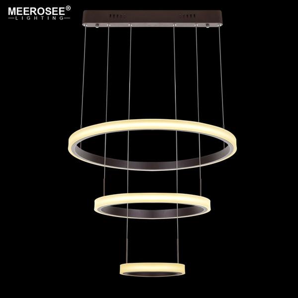 Moderne LED Pendentif Lumières 3 Cercle Anneaux Suspension Pour Foryer Salon LED Lustre Suspendus Plafonniers