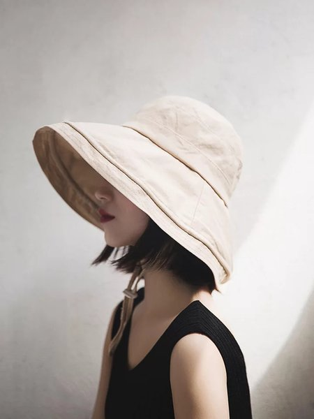 Japanese covered face and summer large-brimmed fisherman hat female leisure joker Korean sun hat retro literature