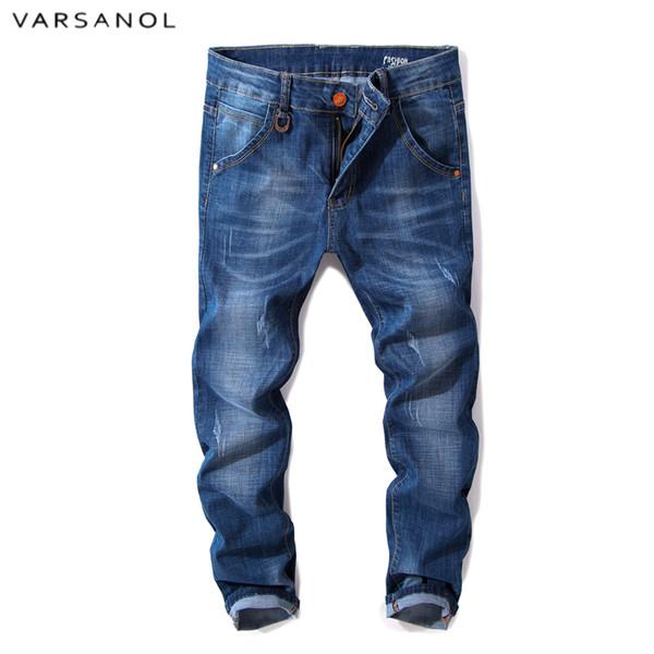 Jeanshosen von Varsanol Herren dünne Bleistift-Hosen Stretch Jeans Homme Frühling Jeans dünne Männer klassische Hose dünne Denim Neueste