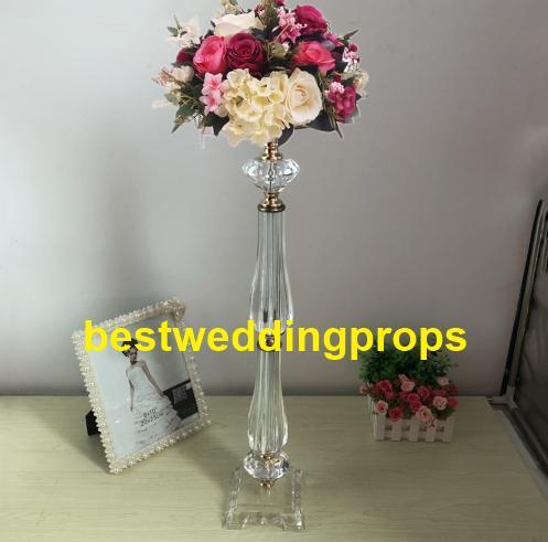 Nouveau style acrylique perlé dessus de table lustre centres de table de mariage décorations bes0296