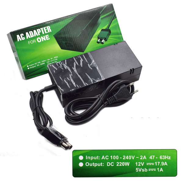 best selling US EU Plug Power Brick [LATEST Advanced Quiet Edition] AC Adapter Power Supply with Charger Cable For Xbox One High Quality FAST SHIP