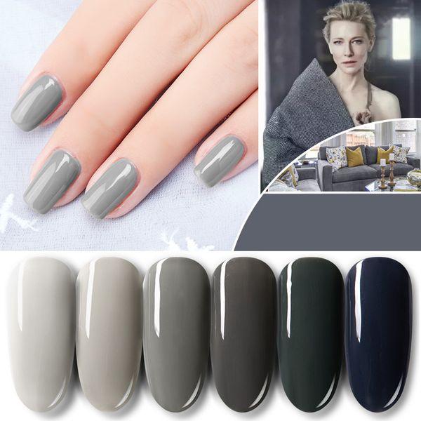 1PC Blue Place Ekbas 12ml Grey Nail Gel Polish Shiny Vanish Lacquer UV LED Lamp 144 Colors Soak Off Cosmetics Manicure