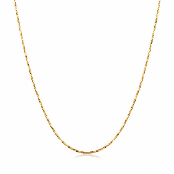 Catena sottile da donna per pendente 18KGP Placca oro rosa oro argento 0.5mm collane Catene Fastness to fading Chains