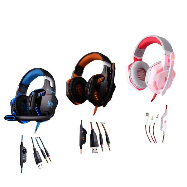 Sıcak Kablolu Oyun Kulaklık Stereo Derin Bas Aşırı Kulak Gaming Headset Kafa Kulaklık LED Micophone PC için LOL Oyunları