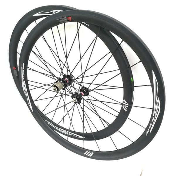 Ruote per biciclette da 35mm Tubolare anteriore e posteriore 700C Set di ruote per bici da strada UD Matt Novatec Superficie del mozzo NGT Migliore qualità