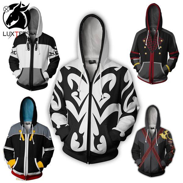 Kingdom Hearts 3 Hoodie Sweatshirt Cosplay Sora Zipper Coat Jacket Costume New