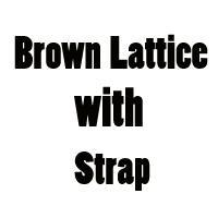 Enrejado marrón con correa