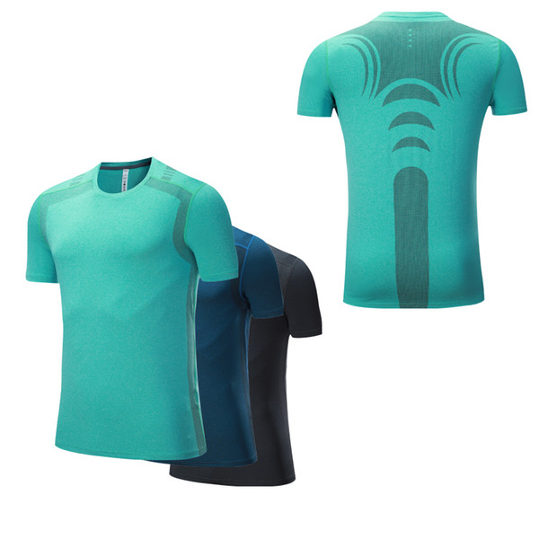 Workout Tops Men High QualityTraining tshirt Functional T-shirt Quick Dry Homme Shorts Sleeves Men Shirt Running Gym Fitness