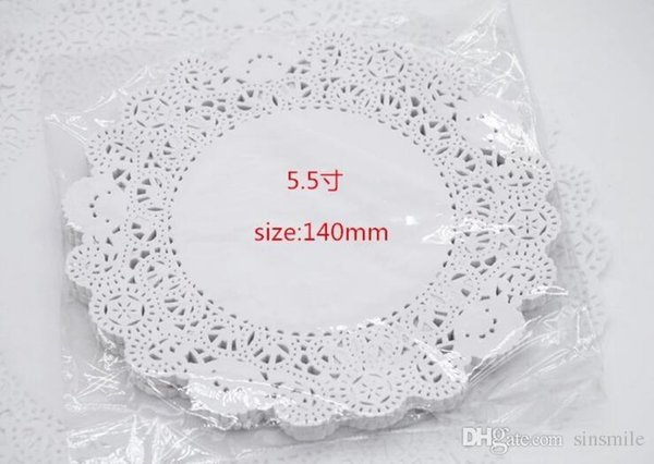 """Wholesale-100pcs/pack Creative Craft 5.5"""" Inch Round White Paper Lace Doilies Cake Placemat Party Wedding Gift Decoration"""