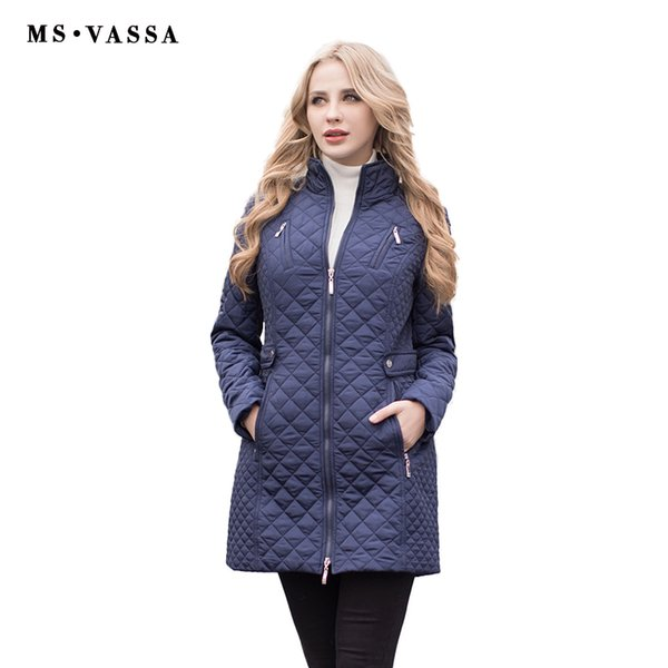 MS VASSA Women Parkas Autumn Winter New Jackets Lady casual Padded Coat Plus size 5XL 6XL long quilted female Oversize outerwear C18110601