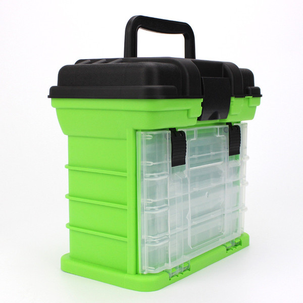 4 layers fishing tackle boxs 3colors PP+ABS fishing accessories tools storage case for storing lures hooks reels line