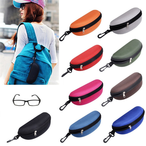 Hot Sunglasses Reading Glasses Carry Bag Hard Zipper Box Travel Pack Pouch Case Portable Protector 11 Colors