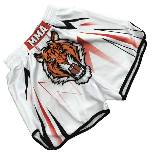 2018 Fashion Men Boxer Shorts Mixed Muay Thai Sports Training Shorts Martial Arts Equipment Women Mens Fitness Gym Running Short