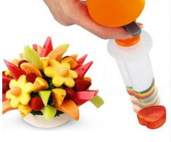 Diy Plastic Can ape Cutter Fruit Shaper Molds Maker Vegetable Food Salad Carving Desert Cake Tool For Party Festival
