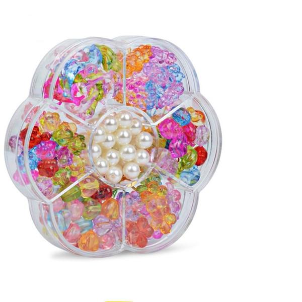 Children Intelligence Beaded Toys Manual DIY Necklace Gift Bracelet Learning Education Games Developmental Parent Child Game 4 5cs W