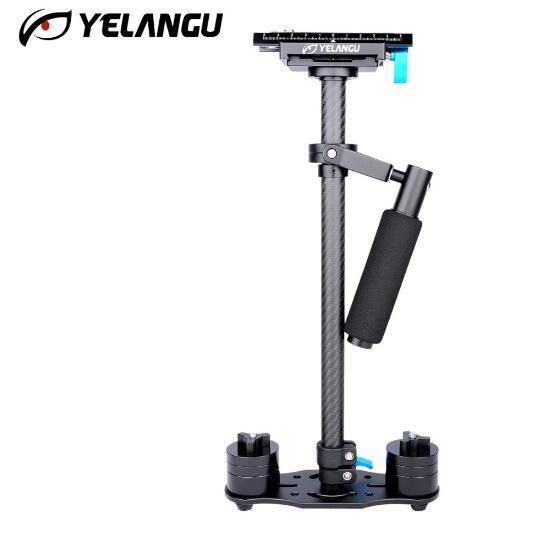 YELANGU Adjustable S60T Carbon Fiber Extended Tube Lenghth 60cm DSLR Camera Video Stabilizer Compact Mini camera stabilizer
